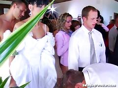 Whores suck and fuck at a wedding tube porn video