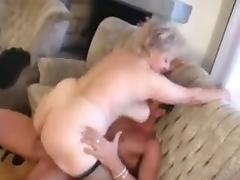 Granny receives a Pussy spreading with a big Cock tube porn video