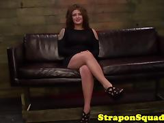 Rough lezdom action for a tattooed plain jane tube porn video