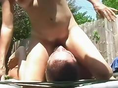 Non-Professional pink twat deeply permeated tube porn video