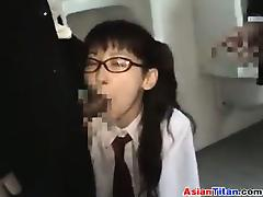 Sweet Asian Nerd Fucking Out In Public tube porn video