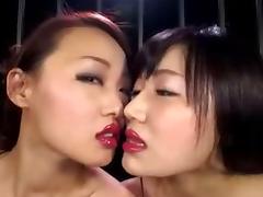 Japanese Lesbian Lipstick Kiss II tube porn video