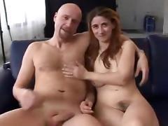 Hairy german beginner with nice hangers threesome tube porn video