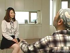 Dazzling Japanese babe moans erotically while being pounded tube porn video
