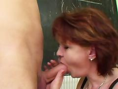 Milf Teacher show young german boy how to get pregnant tube porn video