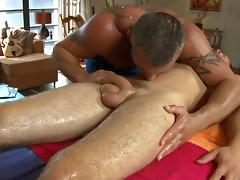 Steamy hot gay massage tube porn video