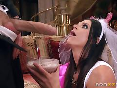 The beautiful bride to be fucks one more time before wedding tube porn video
