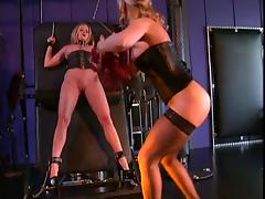 Nina Hartley in bondage and BDSM action with her slave tube porn video