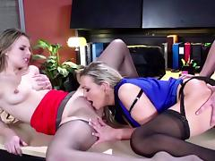 Horny stepmom and stepdaughter gets anal tube porn video