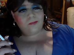 BBW CD Diane - Smoking and talking tube porn video