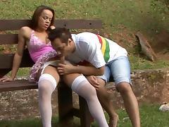 TransPantyhose Video: Joyce and Vinny tube porn video