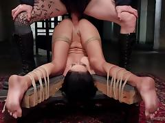 bound slave is fucked hard and whipped tube porn video