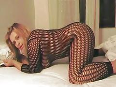 Fuck a Italian MILF in fishnets tube porn video