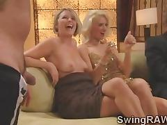 Sexy couples get naughty in daring game tube porn video