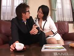 Sex with a puffy nipples Japanese girl is deeply satisfying tube porn video