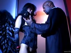 Asian Lucy Lee gets her asshole feasted by black cock in interracial sex tube porn video