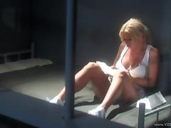 Blonde Gets Her Shaved Pussy Thrilled In Prison Hardcore tube porn video