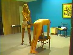Retro whipping and caning punishment by blonde mistress tube porn video
