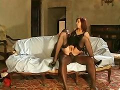 Andrea Mirage Black Stockings Sex tube porn video