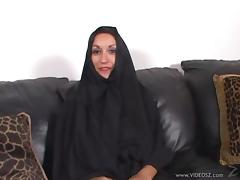 Arabian Cougar with big tits swallows cum after giving blowjob and nailed Hardcore tube porn video