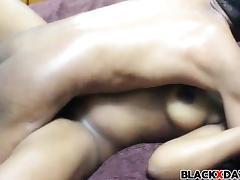 Blindfold black babe gets fucked tube porn video