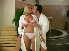 Hot Couple in the Sauna tube porn video