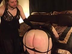 Dominant Crossdresser Spanks BBW Goddess tube porn video