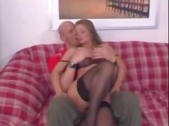 Fucking one delicious blonde with sexy lingerie tube porn video