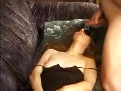 Blindfolded MILF gets a facial tube porn video