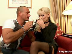 His smoking hot milf date arrives for wine and hotel hardcore tube porn video
