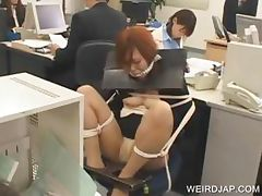 Japanese tied up on the chair tube porn video