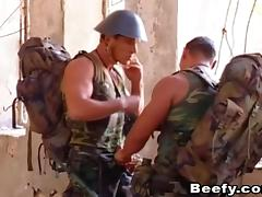 Army studs take a break from patrol for an afternoon of anal sex tube porn video