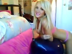 Alexis Paige: Blue Balloon Bounce tube porn video