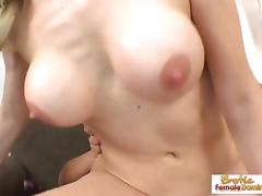 Sexy blonde takes a facial after a hot fuck tube porn video