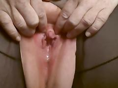 Playing with my big clit tube porn video