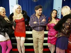 hung dude has a fivesome with four smoking hot chicks tube porn video