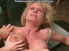 Sarah Jane Hamilton, Mike Horner, Sandra Margot in vintage tube porn video