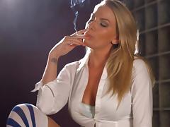 Danielle Maye chain smoking tube porn video