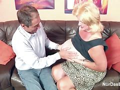 Monster Tit Granny fucks Big Dick Grandpa in Casting tube porn video