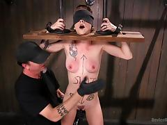 tattooed slave tortured by merciless executor tube porn video