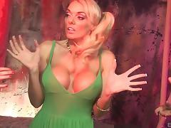 Amazing fake tits on a trio of lesbian pornstars fucking toys tube porn video