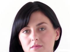Stunning Brunette is nervous at her Calendar Audition tube porn video