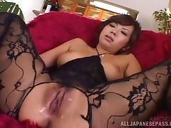 Amazing Japanese woman in crotchless bodystockings likes it nasty tube porn video