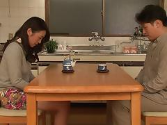 Lonely Japanese mom invites a friend for tea and a sexual affair tube porn video