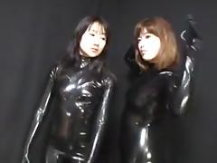 Japanese Latex Catsuit 42 tube porn video