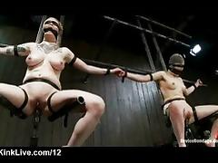 Strapped babes fucked by machines tube porn video