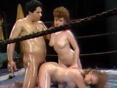 Oiled Catfight Training tube porn video