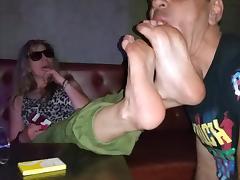 greek footdom humilliation in club!!!!! tube porn video