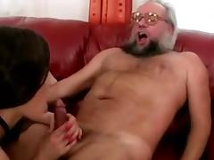 Grandpa and hot girl enjoying nasty Sex tube porn video