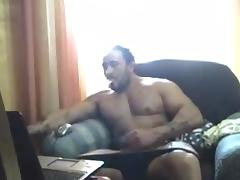 Str8 tattoo muscle daddy jacks off on cam tube porn video